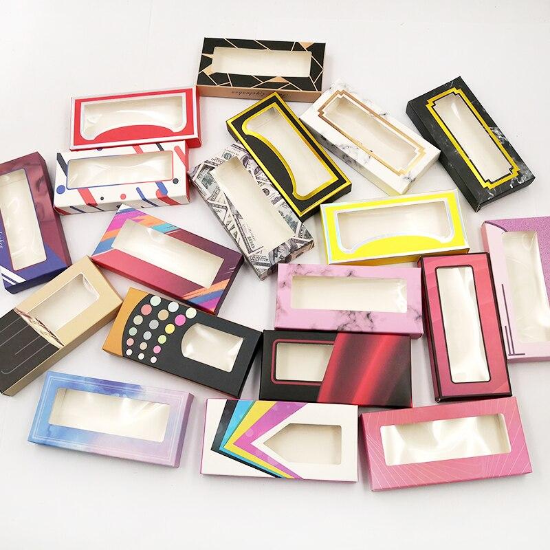 Nueva caja de pestañas holográficas 50 Uds. Paquete de pestañas de papel suave para pestañas postizas de 15mm-25mm