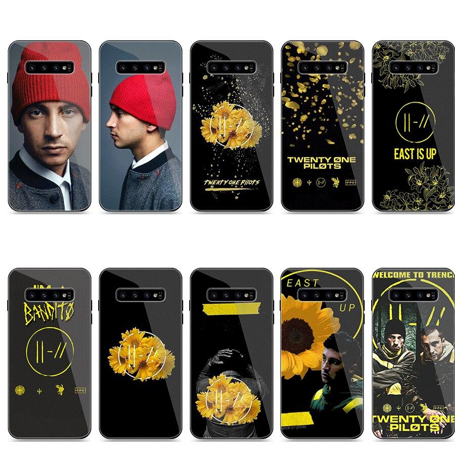 Caja del teléfono de cristal para Samsung A10 A20 A30 A40 A50 A60 A70 A51 A71 calabaza de Halloween