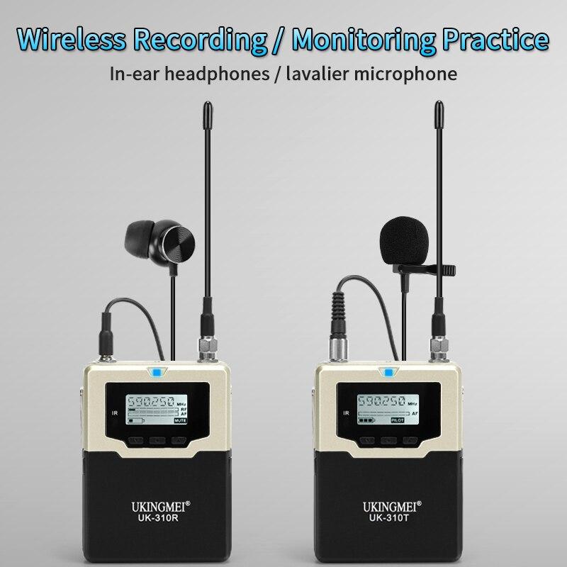 Sistema sem fio do microfone de mão sem fio da lapela da lapela do microfone para a câmera dslr de canon nikon, filmadoras de xlr, smartphones