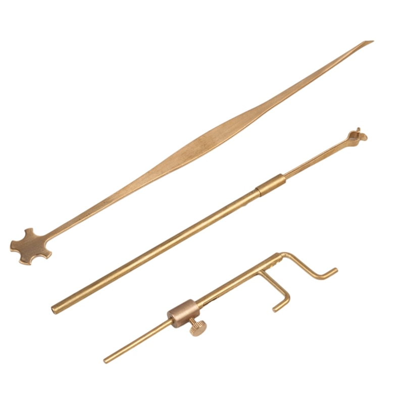 Violin Luthier Tools Sound Post Gauge Measurer Retriever Clip Set Violin Parts & Accessories