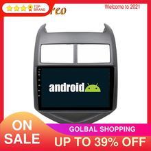 Android 9.0 DSP voiture lecteur multimédia GPS Navigation pour Chevrolet Aveo Sonic 2011-2016 voiture Radio magnétophone unité principale fai HD