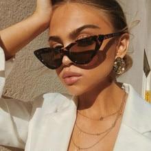 1 PCS Cute Sexy Retro Cat Eye Sunglasses Women Small Black White Triangle Vintage Cheap Ladies Sun G