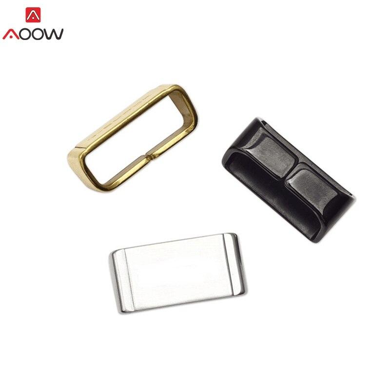 Metal Loop Holder Locker Bezel anillo correa de reloj Accesorios negro oro plata 18mm 20mm 22mm