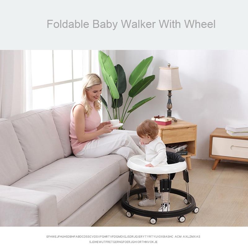 Baby Walker With Wheel Baby Walk Learning Anti Rollover Foldable Wheel Walker Multi-Functional Seat Car enlarge
