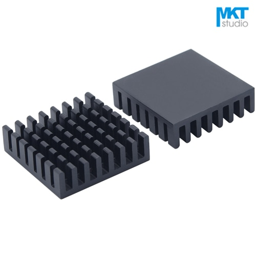 10Pcs Black 28*28*8mm Aluminum Cooling Fin Radiator Heat Sink For TO-3P, MOS, IC, Amplifier, Power