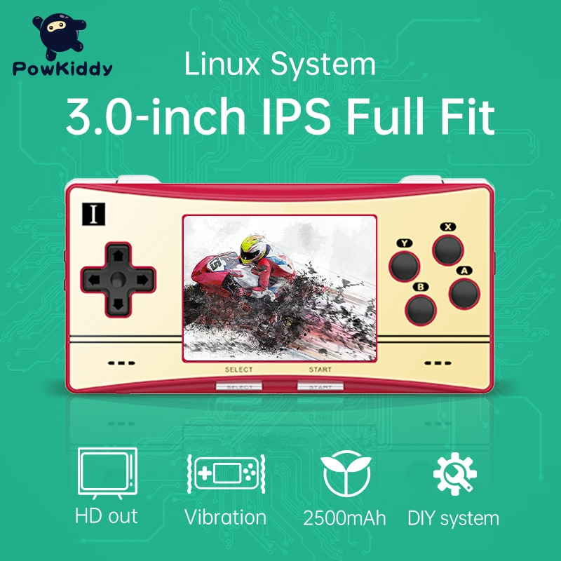 New RG300M Retro Handheld Game Console 3.0 inch IPS Game Device Linux System Double TF Design For PS1 Children Game Player