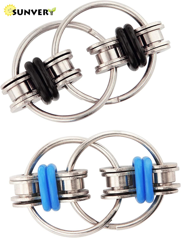 Quiet Fidget Pack Set Flippy Chain Fidget Toys Antistress Marble Mesh Keychain Bean Keyring Pea popper Keychain Soybean Toy Gift enlarge