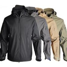 Offre spéciale Softshell Sharkskin tactique hommes veste imperméable à capuche coupe-vent manteau armée veste 12 couleurs