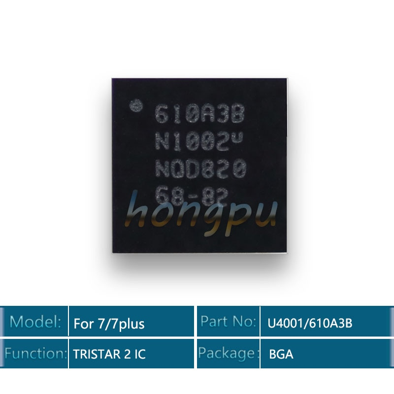 5 шт./лот 610A3B/U4001 U2 IC 36 контактов для iphone 7/7 plus/7 plus USB зарядное устройство/зарядка TRISTAR 2 IC чип