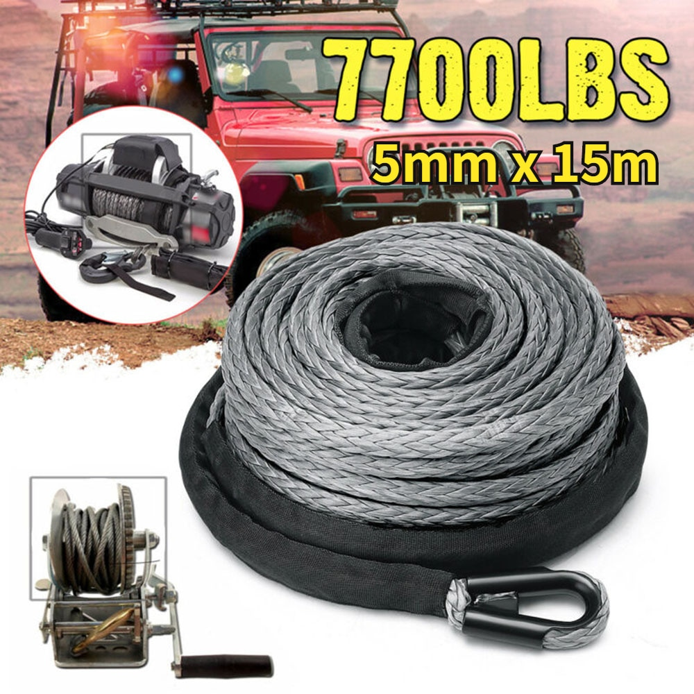 Gran oferta de 15m 7700LBS Cable del cabrestante ATV UTV de alta...