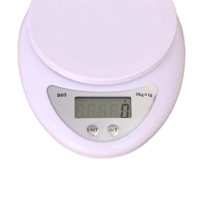Digital para comida... balanza LED de 5kg para medir peso accesorios de...