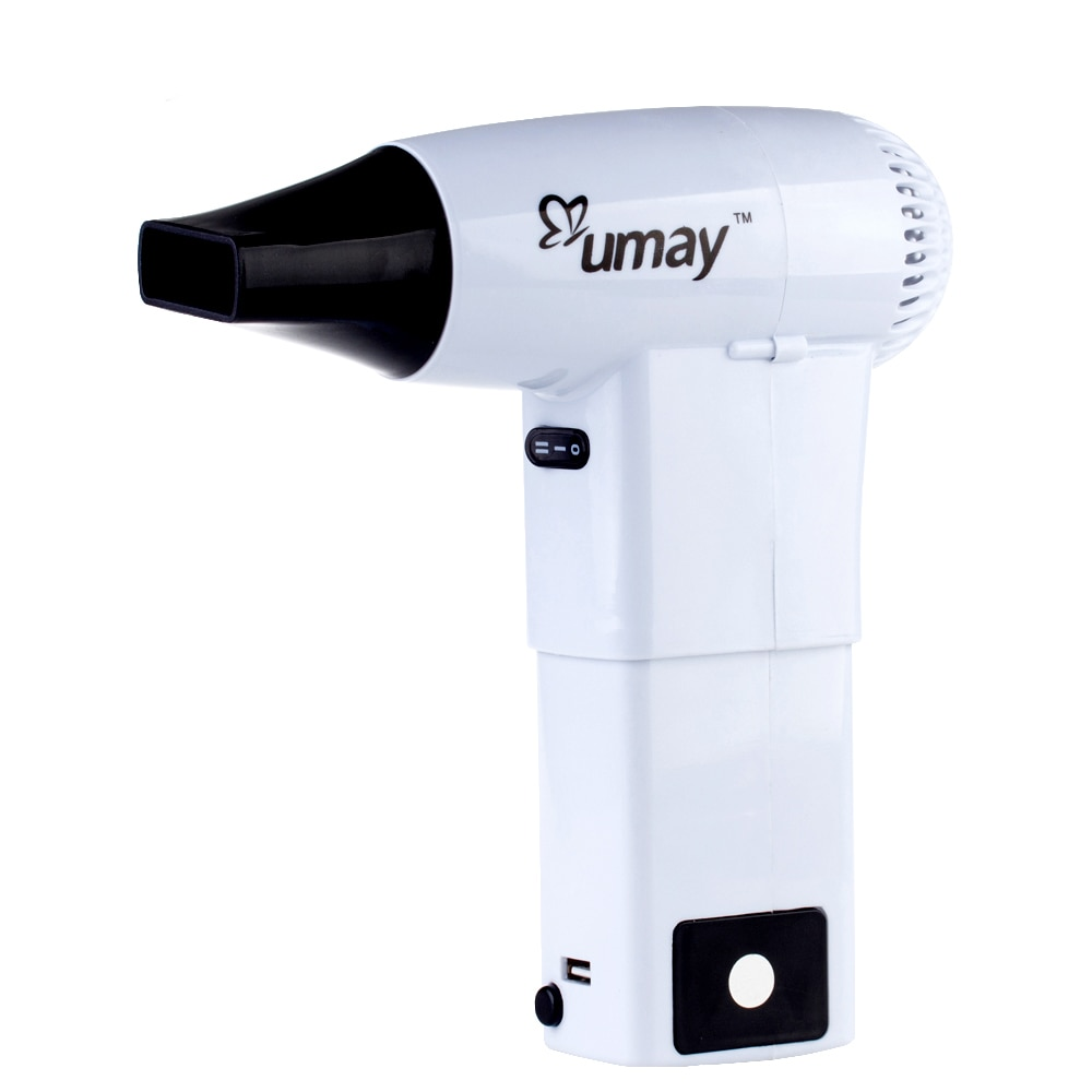 Umay Wireless Hair Dryer with 2 Battery Charging Suitable for Camping Outdoor Baby Hair Pet Hair Equipment Tools Folding Blower enlarge