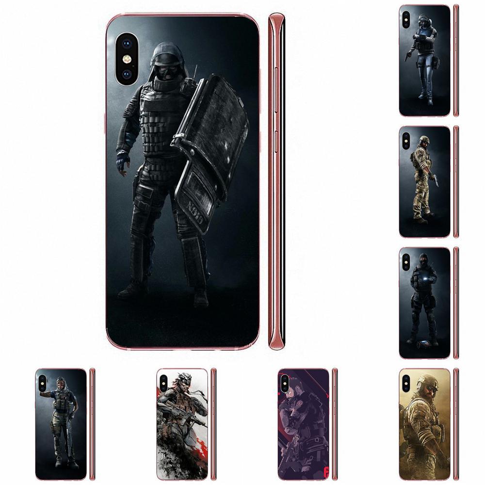 Carcasa de TPU para Xiaomi CC9 CC9E Mi 3 4 4i 5 5S 6 6X 8 9 SE Play Plus Pro Lite A1 Mix 2 Note 3 Arco Iris seis personajes de asedio