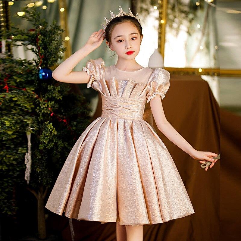 فتاة مراهقة أنيقة فستان الأميرة زهرة فتاة حفلة عيد ميلاد رداء للأطفال الكرة الرسمية ثوب الأطفال بوتيك فساتين السهرة