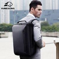Рюкзак Kingsons для ноутбука 15,6 дюйма, вместительный Многофункциональный водонепроницаемый деловой рюкзак с защитой от краж, сумки на плечо