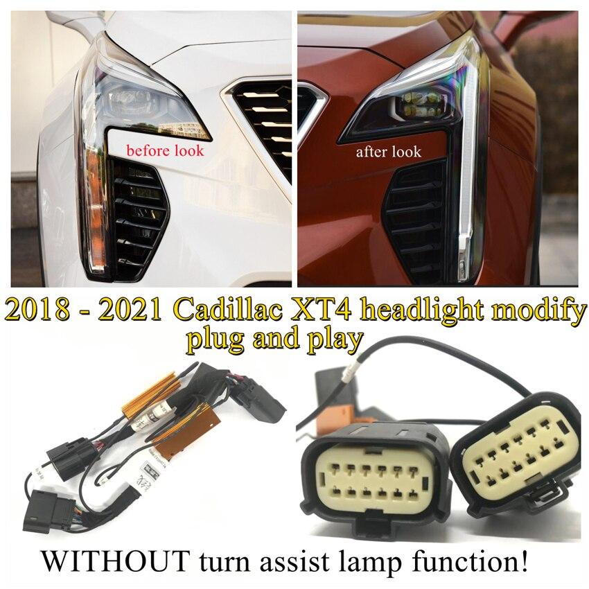 Модификация автомобильной фары YCK, модификация, искусственная портупея для 2018-2021 Cadillac XT4 с подсветкой поворота и без