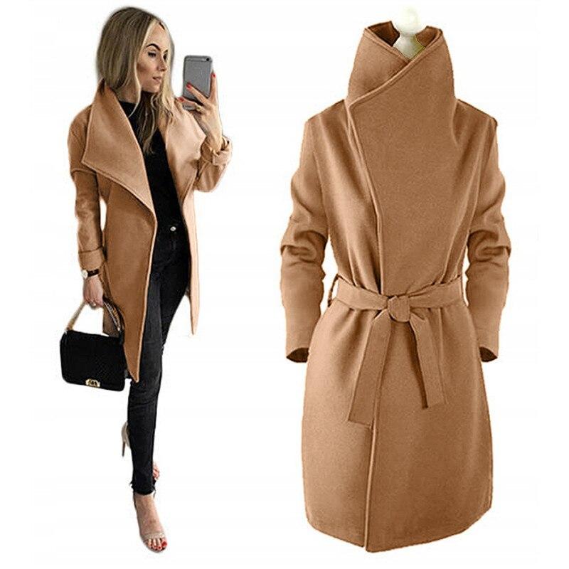 Deseo de Amazon exprés popular estilo solapa súper grueso abrigo color sólido abrigo cálido