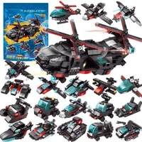 city police swat ch 47 helicopter chinook air force team truck car robot model bricks diy building blocks sets kids toys