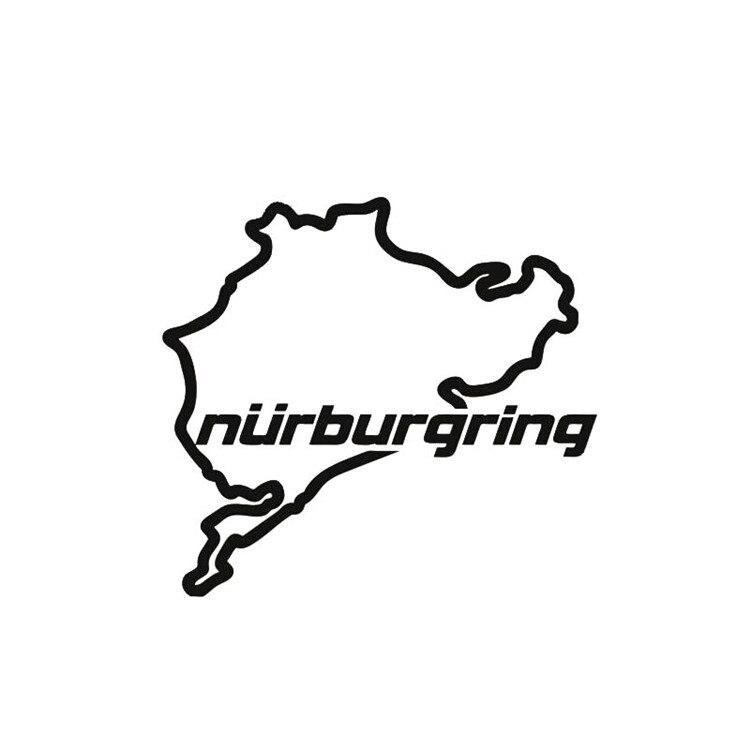 JL 14cm * 12,5 cm personalidad pegatinas de coche de carreras de carretera Nurburgring moda creativa ventana calcomanías de vinilo