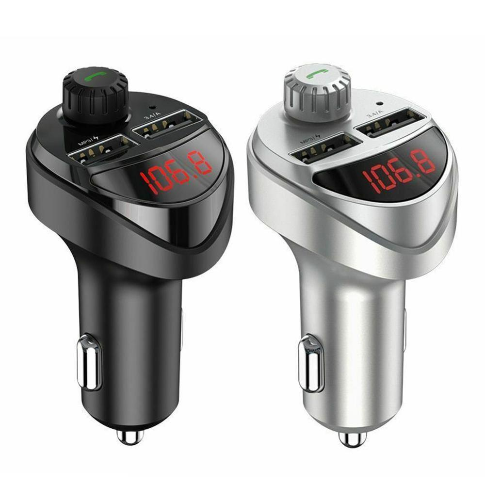 Car Charger Fm-zender Bluetooth Car Audio MP3 Speler Tf Card Auto Kit 3.4A Dual Usb Auto Telefoon Oplader Voor xiaomi Mi