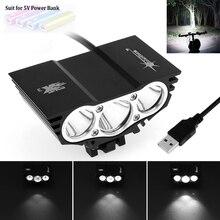 Faro delantero para bicicleta, luz LED X3 impermeable, recargable vía USB, 4 modos, ultraligero + 2 anillos de goma