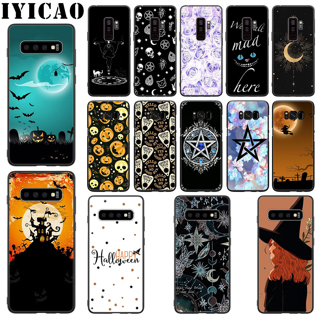 Halloween bruja mágica de silicona suave funda para Samsung Galaxy S20 S10 S9 S8 Lite Plus Ultra S10E S7 S6 Edge funda de teléfono