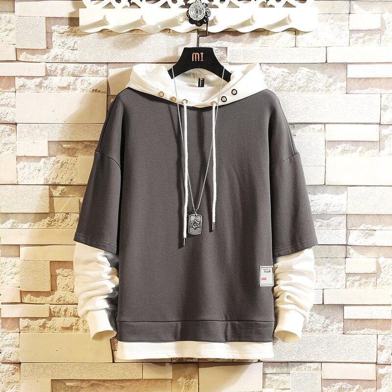 موضة سكيت هوديس بلوزات 2021 رجالية عادية ربيع الخريف الملابس السوداء حجم كبير M-5XL الهيب هوب المرقعة الشارع الشهير