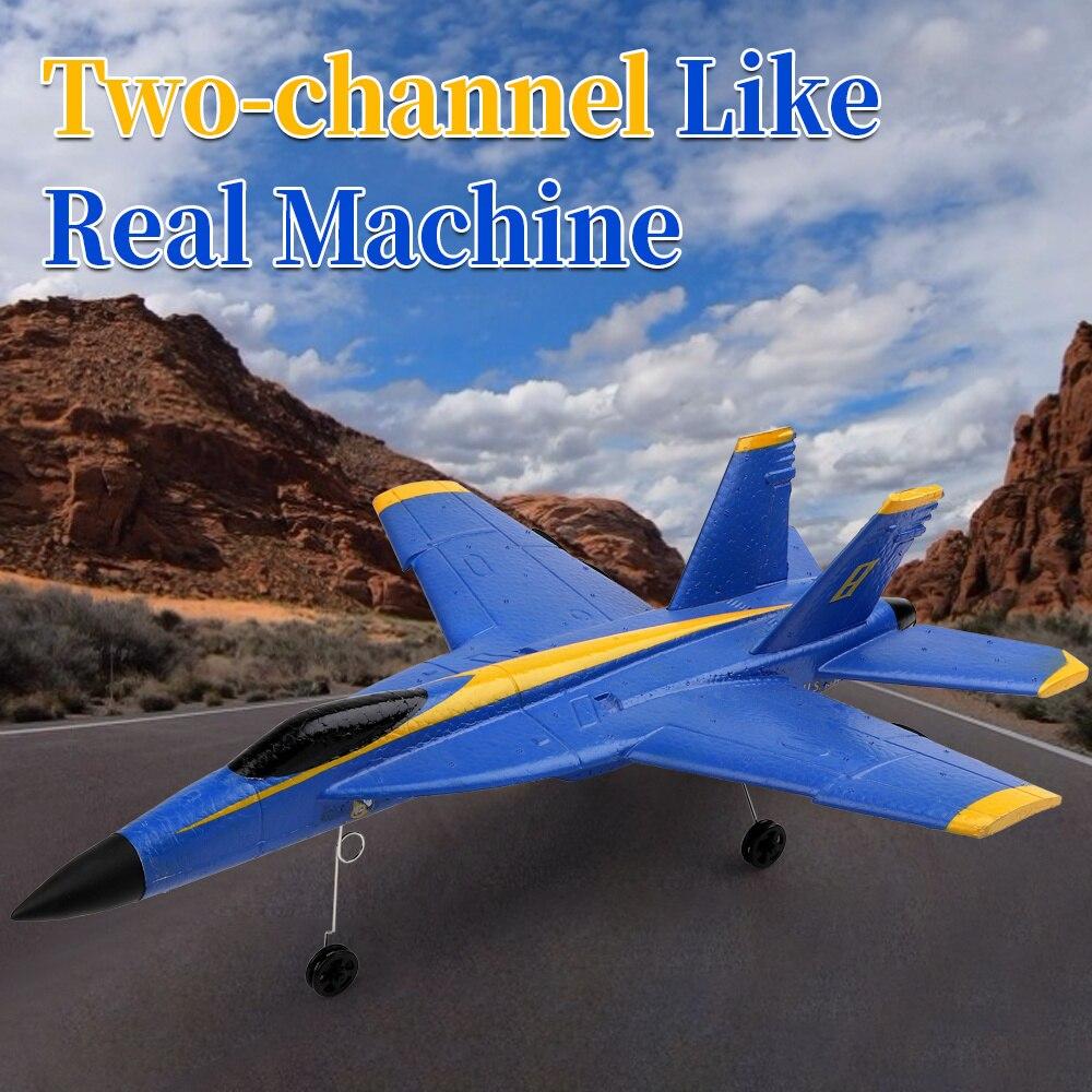 WLDATDOYS  A190 F-18 RC Plane F/A-18C Hornet 2Channel 2.4GHZ Radio Airplane 6axis Drone Remote Control Aircraft Glider Control enlarge