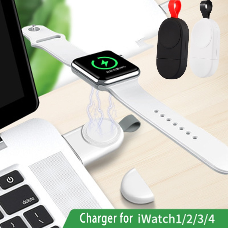 Cargador inalámbrico portátil para Apple Watch 4 3 2 1 cargador adaptador portátil para Apple Watch 4 3 cargador Dock Snel Lader cargador