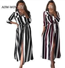 Mousseline de soie laine rayure T-shirts vadim vestido dentelle boutons sexy à manches longues robe femmes automne fête nuit pansement vêtements robes