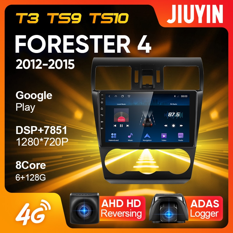 JIUYIN Type C Car Radio Multimedia Video Player Navigation GPS For Subaru Forester 4 SJ 2012 - 2015 Android No 2din 2 din