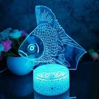teen room decoration night lights table lamp fish bedroom decorations light led for gifts home fancy lighting fairy decorative