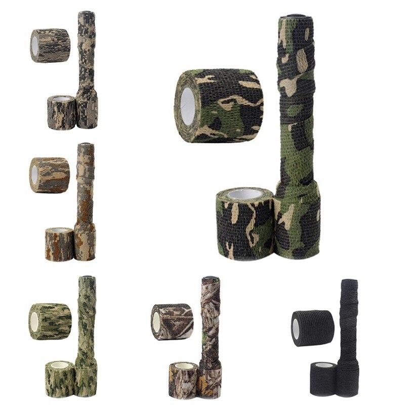 5cm x 2,2 m de Camo del ejército al aire libre caza tiro ciego de camuflaje cinta impermeable secreto Durable