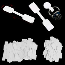 50/100Pcs Price Label Tags String Tie Watch Jewelry Display Merchandise Price Label Paper Cards Rect