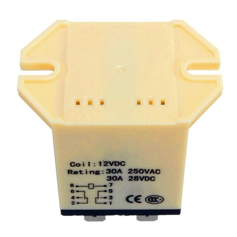 ¡Promoción! 1x JQX-30F 2Z DC 12V bobina 30A 250V relé de alimentación CA 8 Pin DPDT 5.25x3.5x4cm