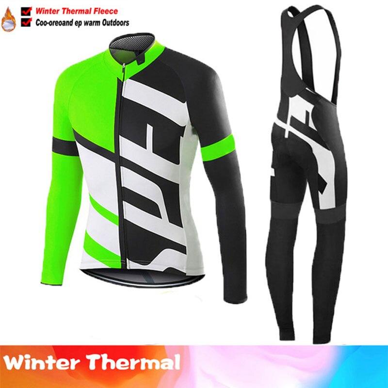 Conjunto de Jersey térmico y polar para Ciclismo, Maillot de Ciclismo para...