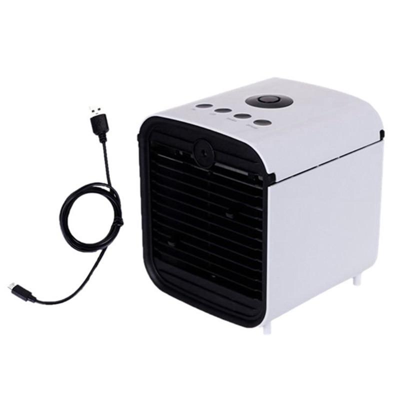 Usb Mini Tragbare Luftkühler Fan Befeuchter-reinigungsapparat 7 Farben Licht Desktop Luft Lüfter Klimaanlage für Office Home