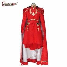 Косплей diy Fire Emblem три дома косплей Edelgard Von Fresberg Time Skip костюм Хэллоуин наряд на заказ