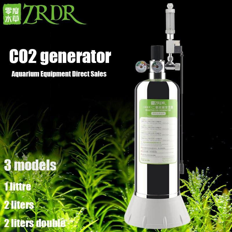 Zrdr aquário diy kit sistema de gerador co2 com pressão regulador fluxo ar válvula solenóide co2 válvula dióxido carbono gás cilindro