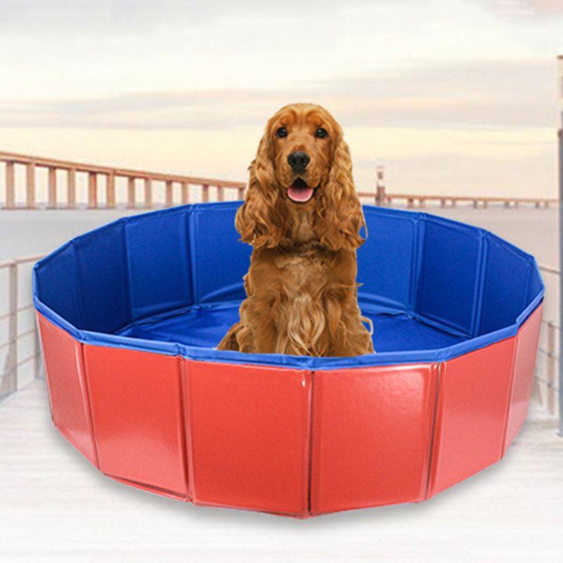 Cão banheira dobrável balde pet piscina spa banho grande cão de banho gato suprimentos