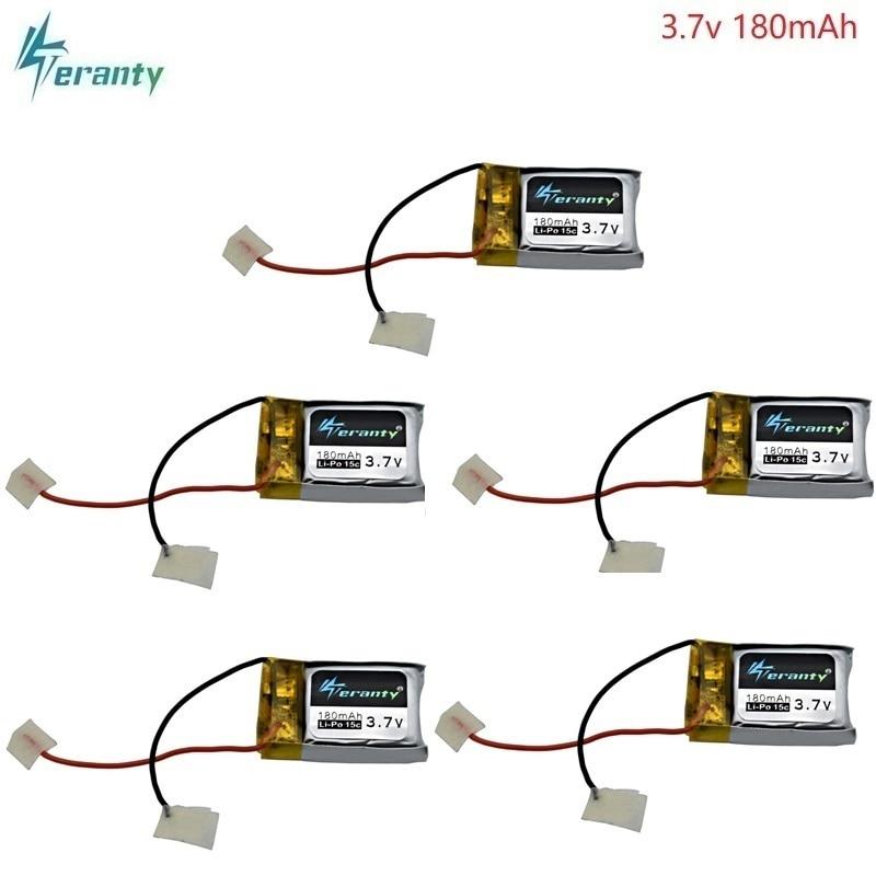 3,7 V batería Lipo de 180mAh para Syma S105 S107 S107G S109 S107 M3 recambios de cuadrirrotor RC batería recargable de 3,7 V 701723 5 uds