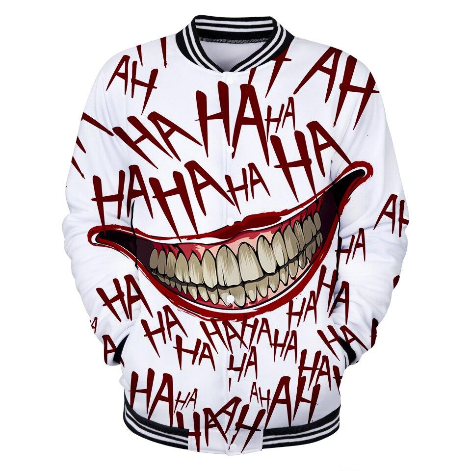 Haha clown 3D primavera chaqueta señoras/hombres K Pop hip hop moda chaqueta señoras colorido cool software k-pop fans béisbol ropa