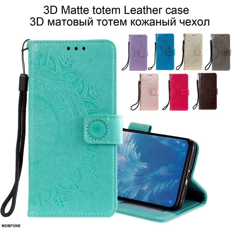 3D totem Haut Matte Leder fall Für Xiaomi Mi 10 Mi10 Pro Brieftasche Buch Pouch Flip Weiche Abdeckung Xiaomi Mi 10 Lite Fundas Coque Tasche
