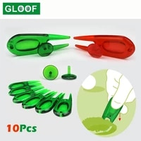 10pcsset abs plastic pitch repair divot switchblade tool golf ball marker mark green golfer kit