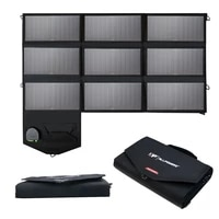 allpowers 18v 60w sunpower portable foldable solar panel 2usb solar charger 18v dc output fit for laptop%e3%80%81phone%e3%80%81camping%e3%80%81outdoor