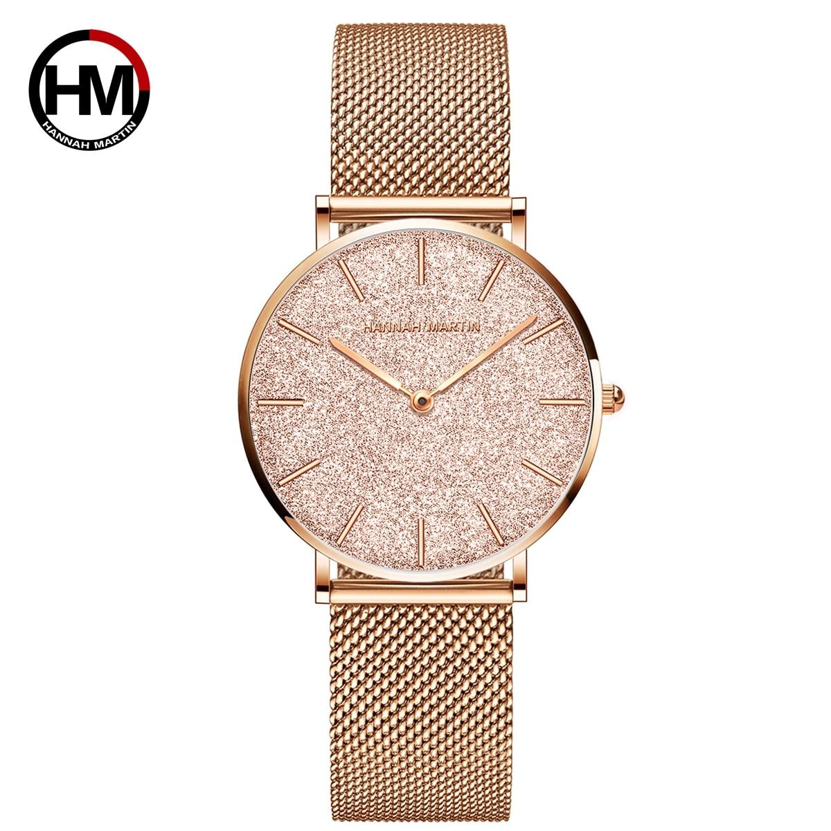 Sahara Desert Dial New Design 2021 Top Brand Luxury Japan Quartz Wristwatch Stainless Steel Rose Gold Waterproof Watch for Women enlarge