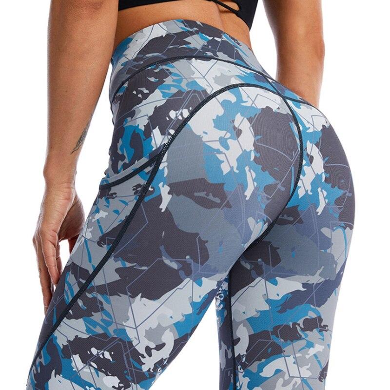 Pantalones De Yoga Estampados Con Bolsillo párr Mujer De zapatillas De Entrenamiento...
