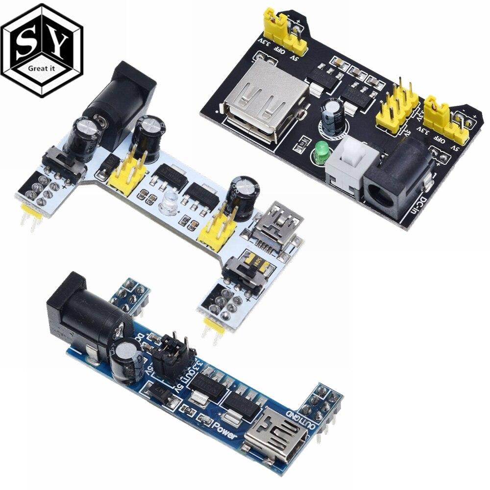 1PCS טיפוס Power Supply מודול/mb102 לבן טיפוס ייעודי כוח מודול 2-דרך 3.3V 5V MB-102 הלחמה לחם לוח