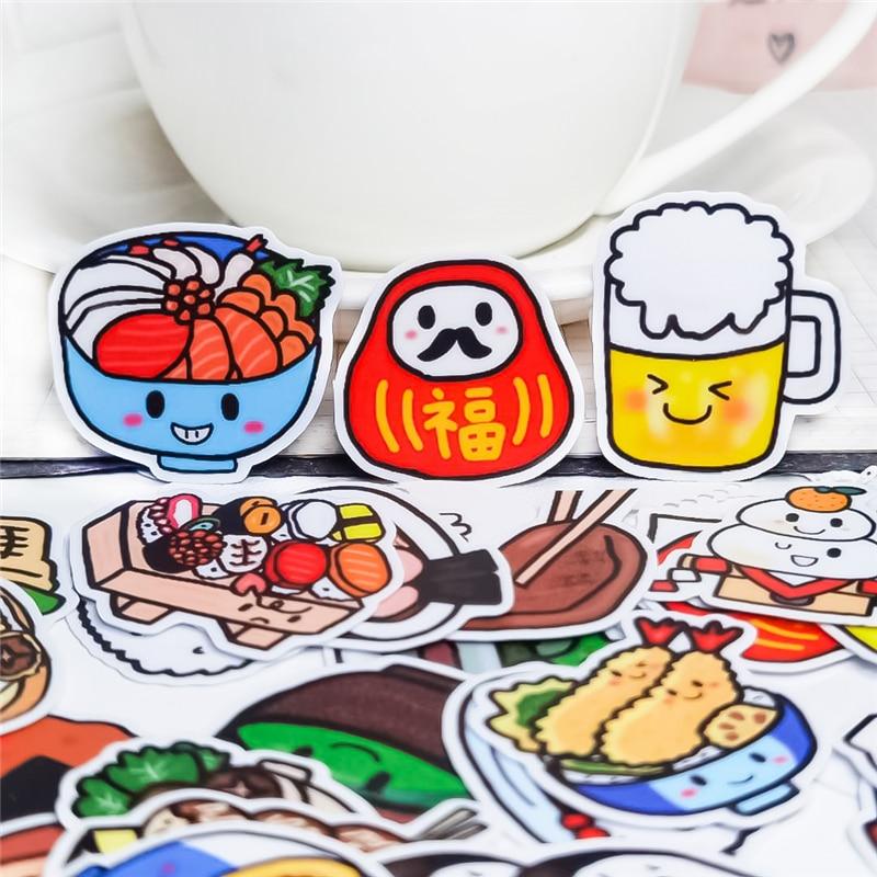 40pcs Creative cute self-made Japan food tasty  stickers scrapbooking stickers /decorative /DIY craft photo albums Waterproof 36pcs creative cute self made retro victoria rose stickers scrapbooking stickers decorative sticker diy craft photo albums