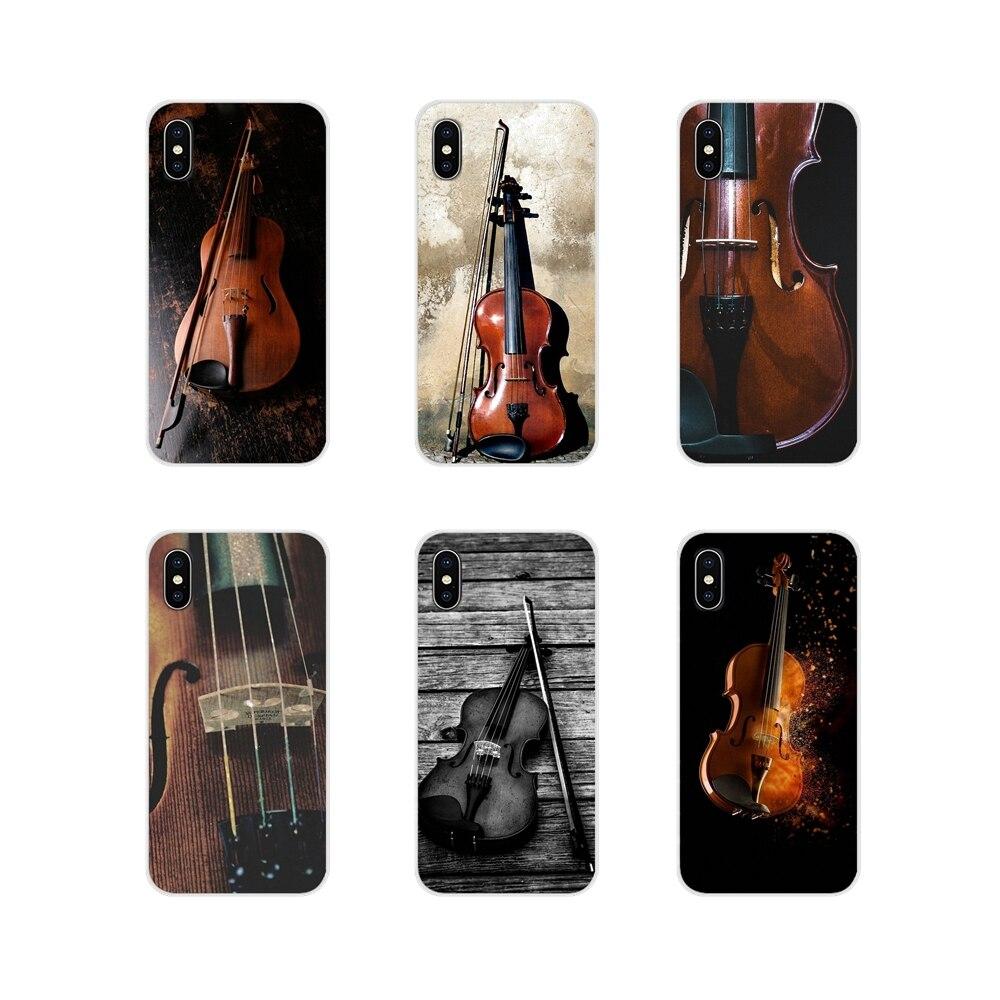 Trasparente di TPU Shell Coperture Per Xiaomi Redmi Nota 3 4 5 6 7 8 Pro Mi Massimo Della Miscela 2 3 2S Pocophone F1 Musicale Note di Violino Classico